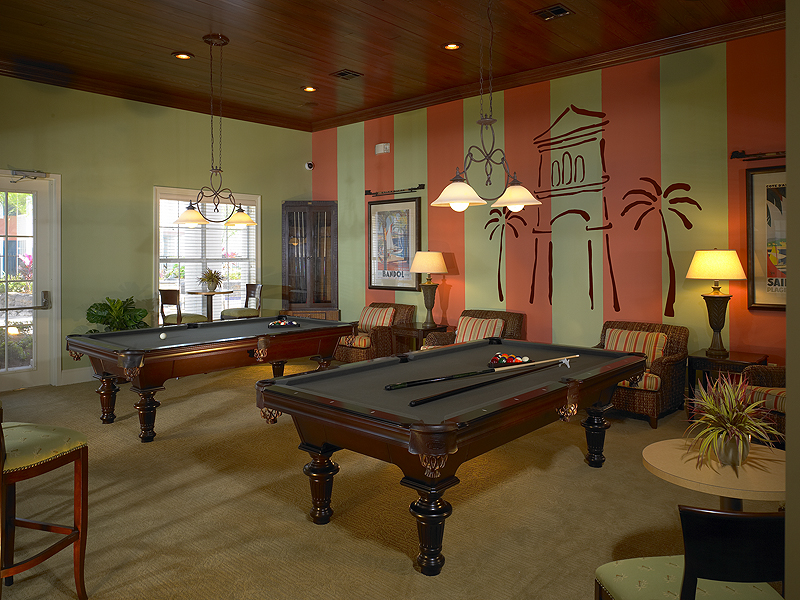 Calypso Bay billiard room