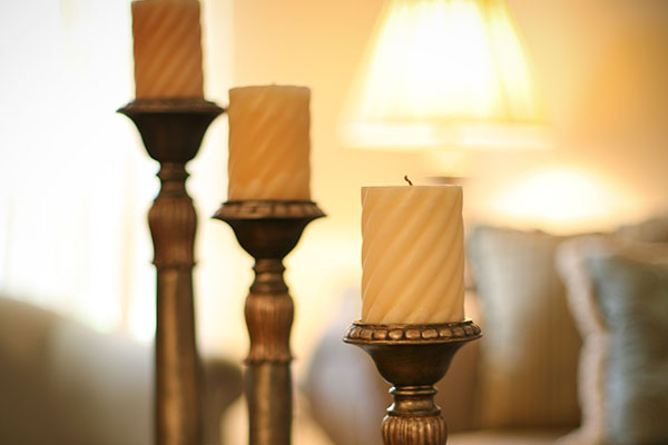 Candlestick in living room